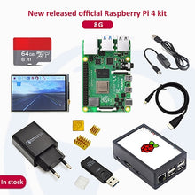 Load image into Gallery viewer, In stock Raspberry pi 4 2GB/4GB/8GB kit Raspberry Pi 4 Model B PI 4B: +Heat Sink+Power Adapter+Case +HDMI Cable+3.5 inch screen
