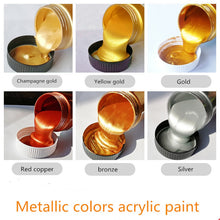 Load image into Gallery viewer, 100/300ml Gold Paint Metallic acrylic paint,waterproof