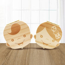 Load image into Gallery viewer, Wooden Baby Kids Tooth Storage Box