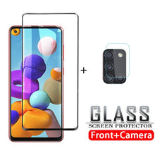 Load image into Gallery viewer, Tempered glass for Samsung Galaxy A21S camera lens screen protector for Samsung Galax A21 S A 21 S 21S protective glass film