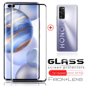 2-in-1 honor 30s 30 s glass protective camera glass for huawei honor 30 pro xonor 30pro plus + honor30pro screen protector film