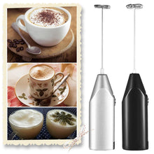 Load image into Gallery viewer, Electric Milk Frother Kitchen Drink Foamer Whisk Mixer Stirrer Coffee Cappuccino Creamer Whisk Frothy Blend Whisker Egg Beater