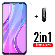 Load image into Gallery viewer, 2 in 1 protective glass redmi 9 camera lens protector For xiaomi redmi 9 redmi9 xiomi xaomi redmy 9 tempered glass film 6.53
