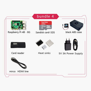 New Original Official Raspberry Pi 4 Model B RAM 2G4G8G 4 Core 1.5Ghz 4K Micro HDMI Pi4B 3 Speed than Raspberr Pi 3B+