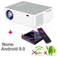 Load image into Gallery viewer, WZATCO M20 Full HD 1080P Projector 4D Keystone Android 10.0 WIFI  for Smartphone Video 4K Proyector 200inch Home Cinema T26K M19