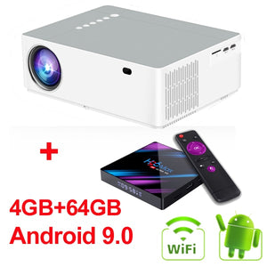WZATCO M20 Full HD 1080P Projector 4D Keystone Android 10.0 WIFI  for Smartphone Video 4K Proyector 200inch Home Cinema T26K M19