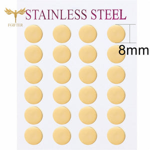 Minimalist Stud Earrings For Men Women Gold 304 Steel Earring 12 Pairs Earrings Jewelry Set
