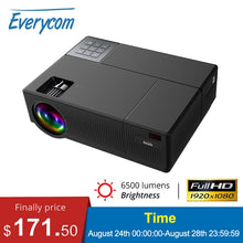 Load image into Gallery viewer, Everycom M9 CL770 Native 1080P Full HD 4K Projector LED Multimedia System Beamer 6800 Lumens HDMI*2 Auto Keystone Home Cinema