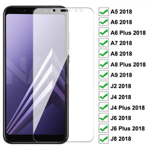 9D Protective Glass For Samsung Galaxy A6 A8 J4 J6 Plus 2018 Tempered Glass A5 A7 A9 J2 J8 2018 Screen Protector Glass Film Case