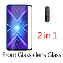 Load image into Gallery viewer, 2-in-1 Camera Tempered Glass For huawei honor 9x STK-LX1 premium Protective Glass on honor 9 x x9 honor9x screen protector Film
