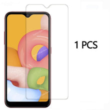 Load image into Gallery viewer, 2 in 1 Tempered Glass On For Samsung Galaxy A01 Camera Lens Screen Protector Glas For Samsung A015 A 01 Protective Glass Film