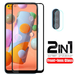 "2 in 1 camera lens protective Glass For samsung Galaxy a11 A 11 SM-A115F/DS A115F 6.4"" screen protector safety armor tremp Film"