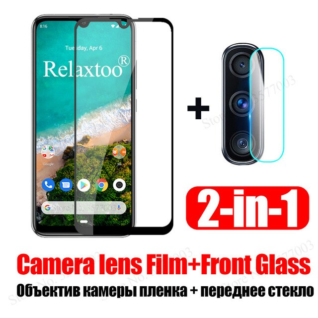 2 in 1 mia3 protective Glass For xiaomi mi a3 Camera Lens Glass on xaomi xiomi mi a3 a 3 3a tempered glas screen protector Film