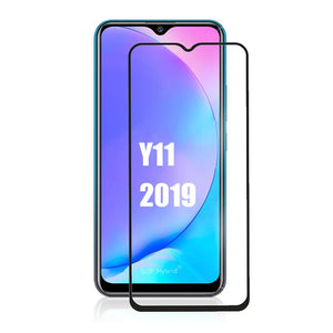 2in1 Full cover screen protector For vivo Y11 2019 Tempered Glass Camera Lens glass For Vivo y11 vivo y 11 Y 11 Protective Film