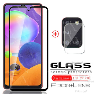 2-in-1 for samsung a31 2020 glass protective camera glasses for samsung galaxy a31 a 31 31a sm-a315f/ds 6.4'' phone screen films