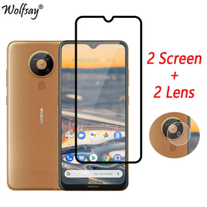 Full Cover Whole Glue Tempered Glass For Nokia 5.3 Screen Protector For Nokia 5.3 Camera Glass For Nokia 5.3 Glass 6.55 inch