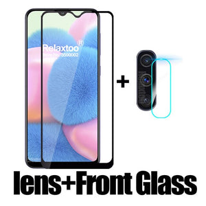 2 in 1 Camera Tempered Glass For samsung Galaxy a30s a30 s a 30s a307 a307F SM-A307F lens screen protector protective Film cover