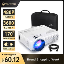 Load image into Gallery viewer, VANKYO LEISURE 3 mini Projector 1920*1080P 170'' Display Portable Projector with 40000 Hrs LED Lamp Life TV Stick PS4 HDMI PK Q5