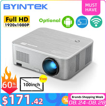 Load image into Gallery viewer, BYINTEK K15 4K 1920x1080P Smart Android Wifi Proyector LED Video Projector Beamer for 3D 4K 300inch Home Cinema Newest 1080p