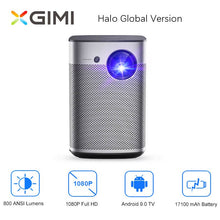 Load image into Gallery viewer, XGIMI Halo Full HD DLP Mini Projector Android 9.0 Wifi Portable Support 4K Video TV 3D Home Cinema With Battery Google OS Beamer