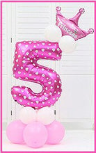 Load image into Gallery viewer, baby party hat set Blue Pink Number Balloon 1/2/3/4/5/6T Kids children