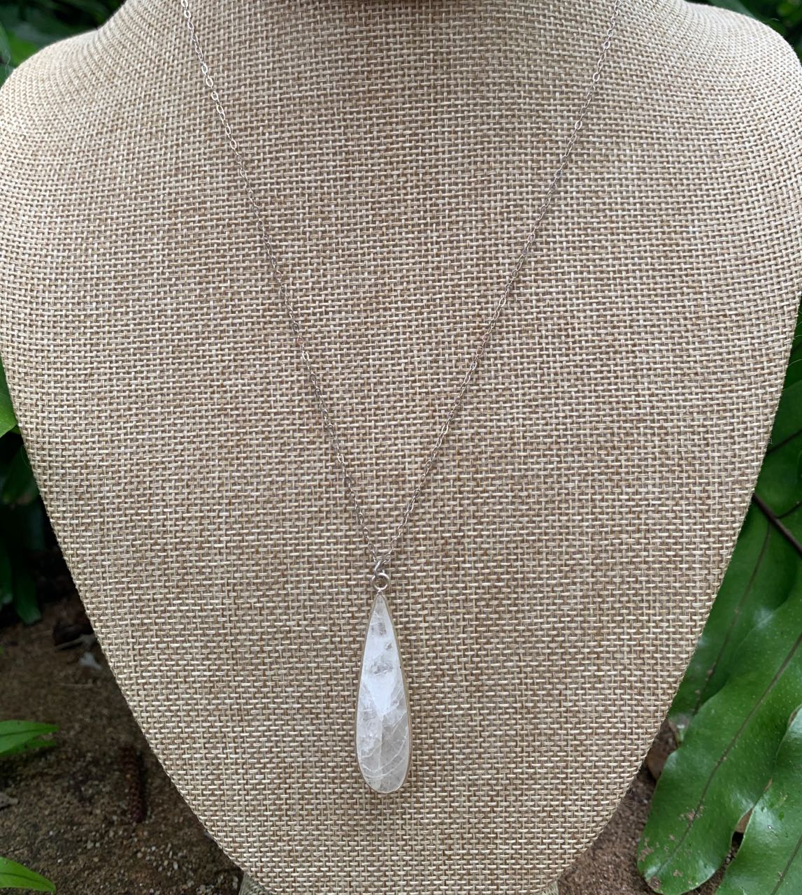 2Dy4: Moonstone and Sterling Necklace
