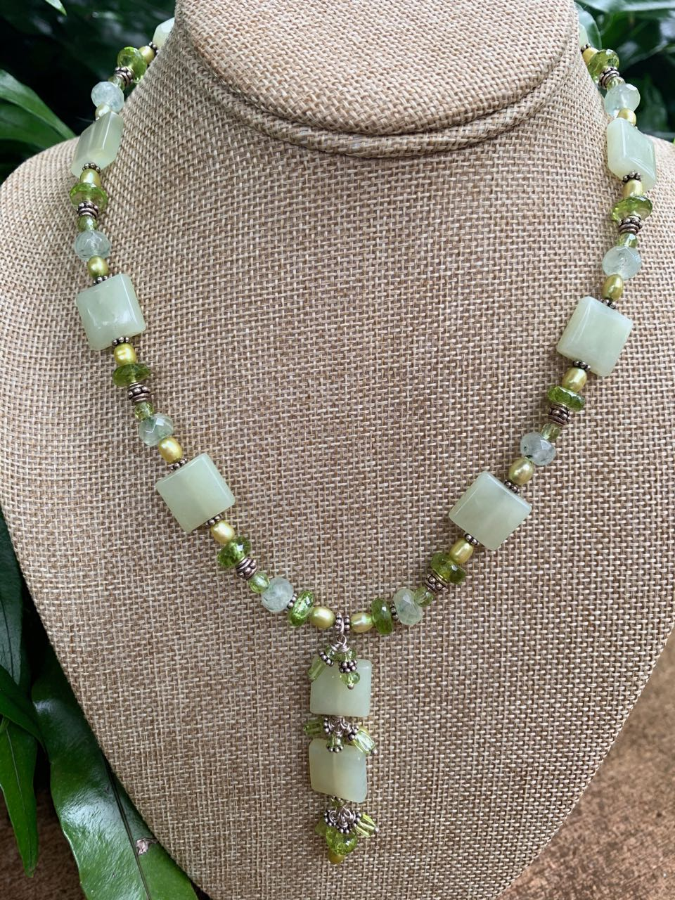 Liesel Lund: Green Tourmaline, Key Lime Chalcedony & Sterling Silver Necklace