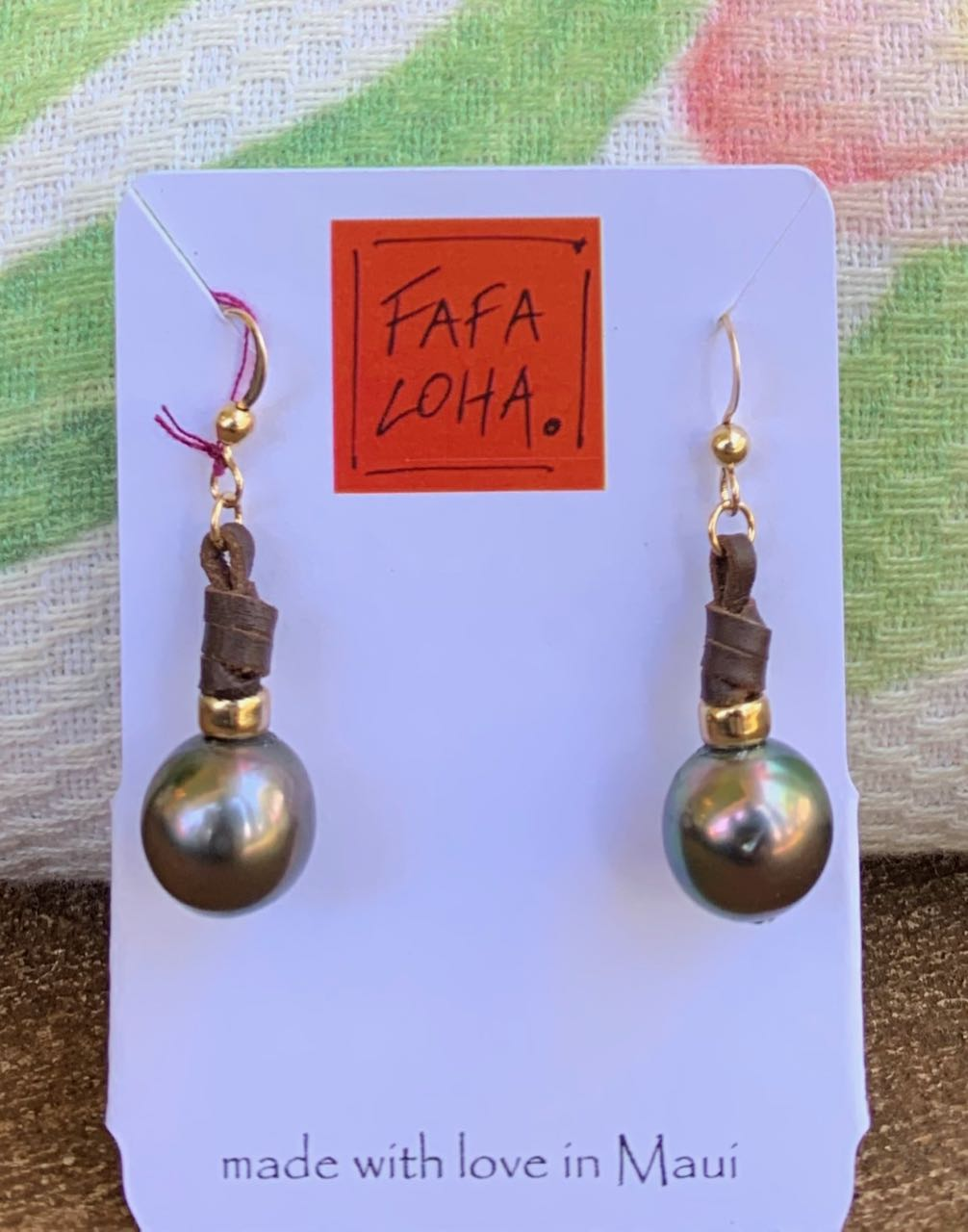 "Fafaloha: Tahitian Pearl ""Ula"" Earrings"