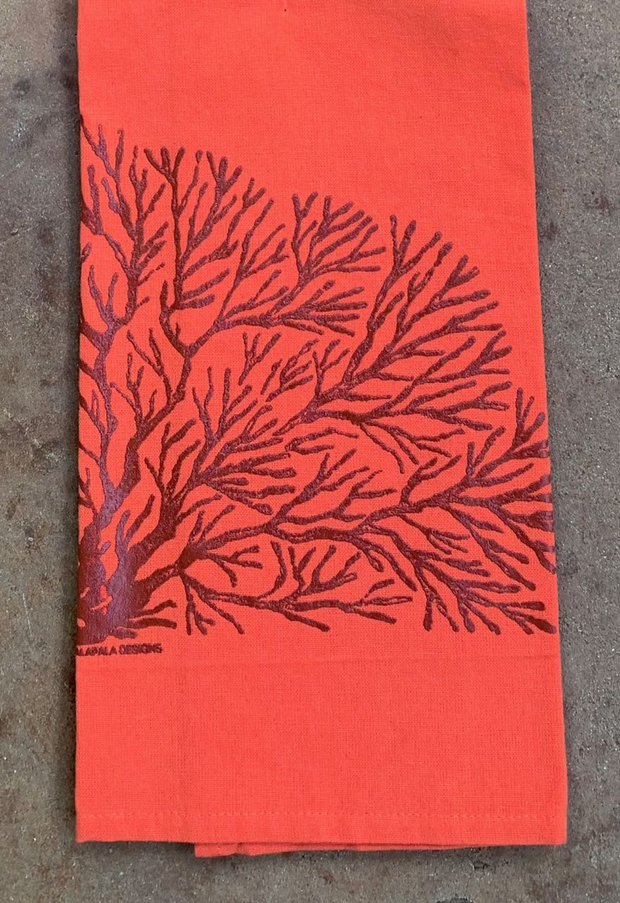 Palapala Design: Tea Towel Orange Ko`a