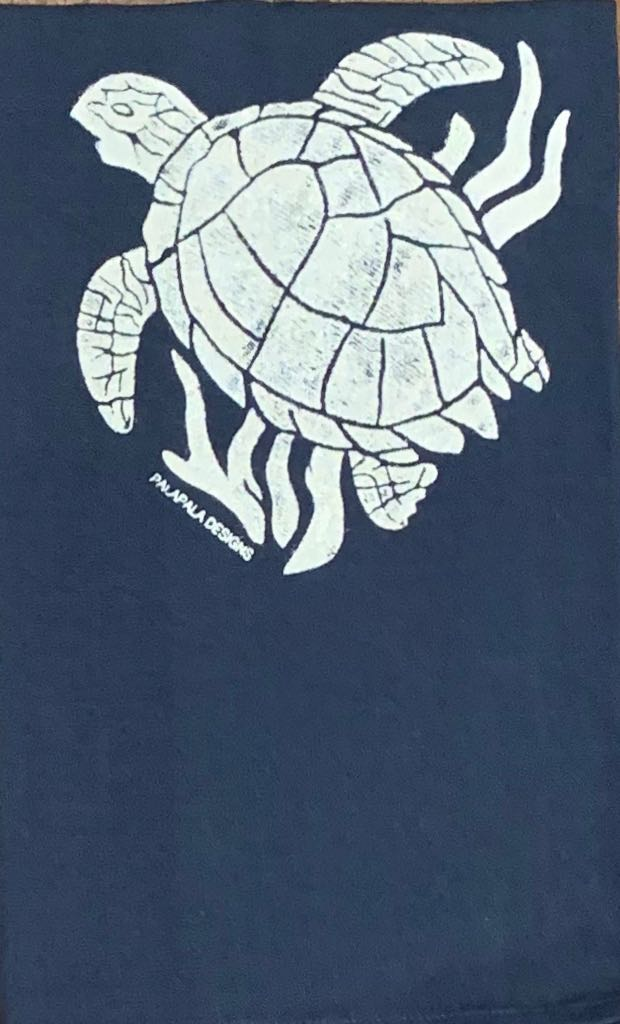 Palapala Design: Tea Towel Navy Honu