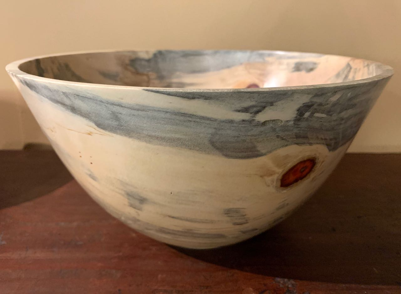 "Bill Moore: Lana`i Cook Pine ""Worm"" Bowl"