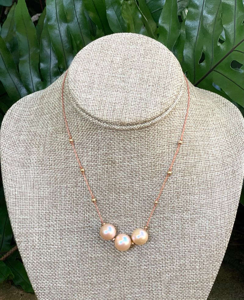 Fafaloha: Triple Edison Pearl Necklace