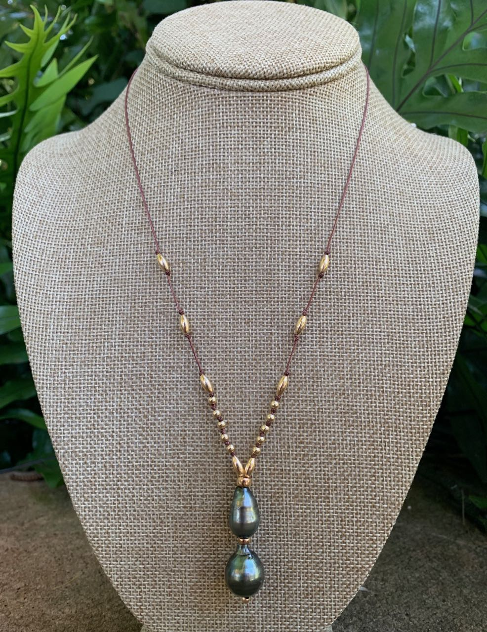 Fafaloha: Double Tahitian Pearl Necklace