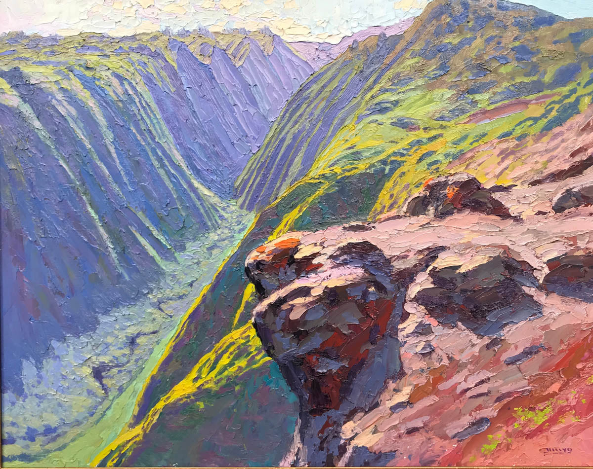 Billyo O'Donnell: Rock Outcropping Over Maunalei Gulch
