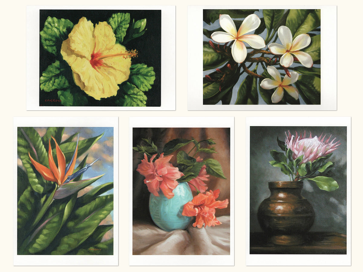 Note Cards: Lana'i Florals