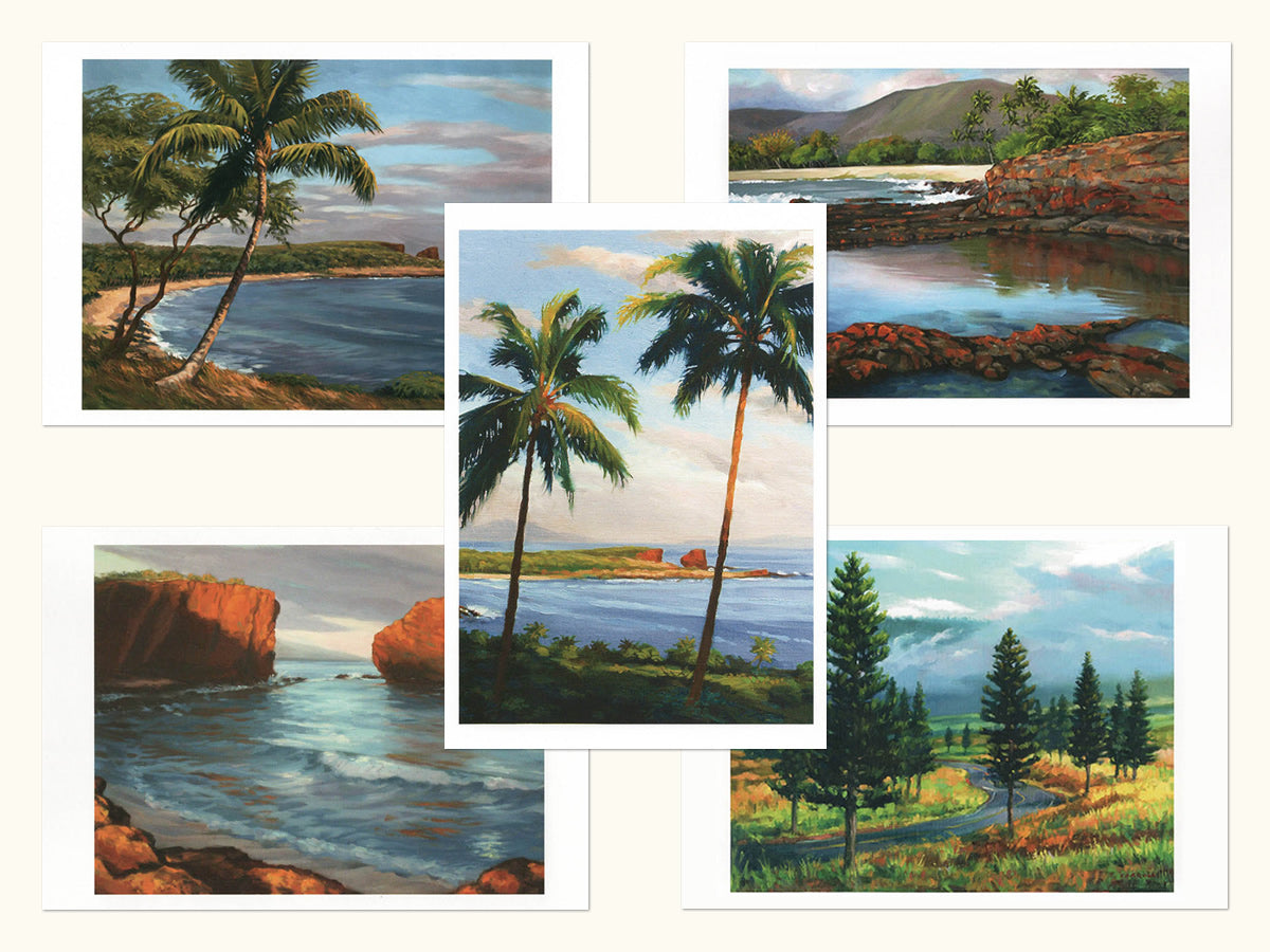 Note Cards: Lana'i Scenic