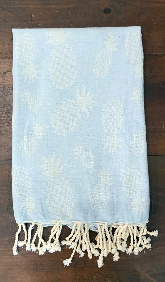 Peshtemals: Baby Blue Pineapple