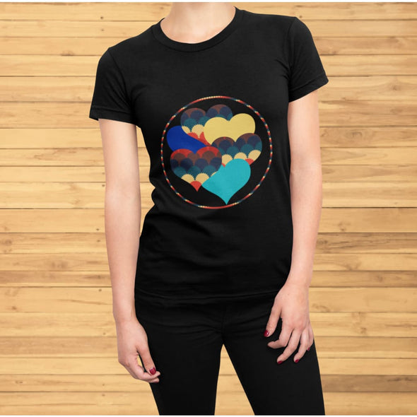 Beautiful Hearts Design on T-Shirt - Ref 003 - T-shirts