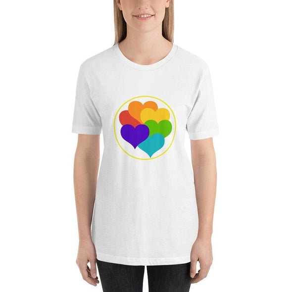 Beautiful Hearts Design on T-Shirt - Ref 003 - White / S -