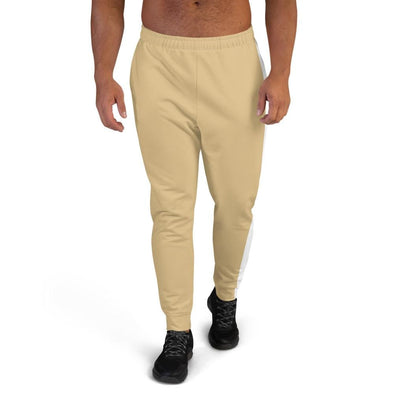 Beige Men's Joggers with White Stripe - XS - Joggers