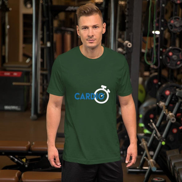 Blue Cardio Design on Men's T-Shirt - Forest / S - T-shirts