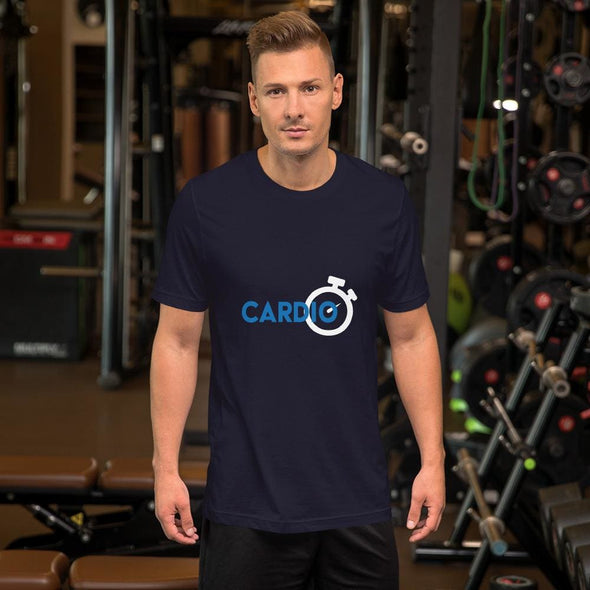 Blue Cardio Design on Men's T-Shirt - Navy / S - T-shirts