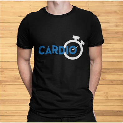 Blue Cardio Design on Men's T-Shirt - T-shirts