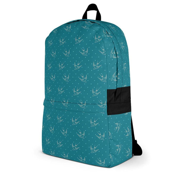 Blue Doves Design Backpack - Bag