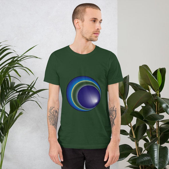 Blue Eclipse Design on Men's T-Shirt - Forest / S - T-shirts