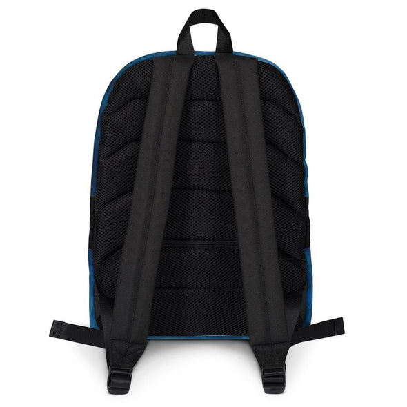 Blue Smoky Design Backpack - Bag