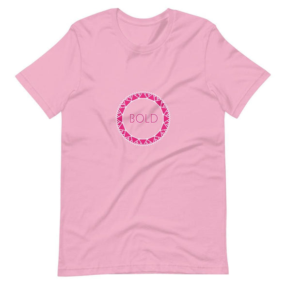 Bold Pink Circle Design on Short-Sleeve T-Shirt - Lilac / S