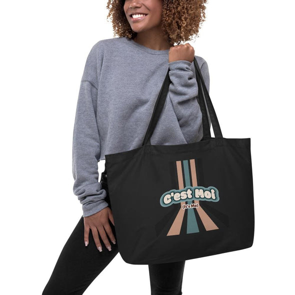 Large organic tote bag - Black