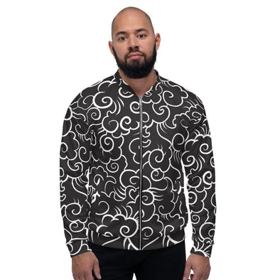 Clouds Design on Bomber Jacket - XS - Jacket