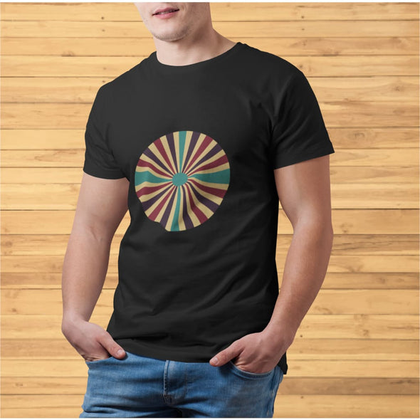 Color Splash Circle Design on Men's T-Shirt - T-shirts